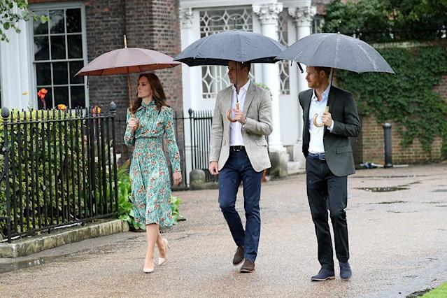 The three members of the royal family are seemingly inspired by Diana's sense of style. (Photo by Chris Jackson/Getty Images)