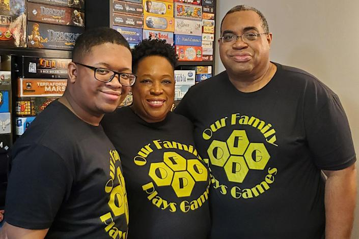 The Fitch family, from left, Grant, Starla and
