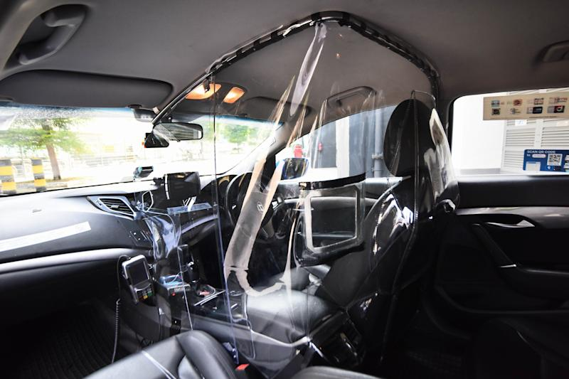ComfortDelGro launches a trial on plastic shields on the driver's cabins of its taxis to protect its cabbies against COVID-19. (PHOTO: ComfortDelGro)