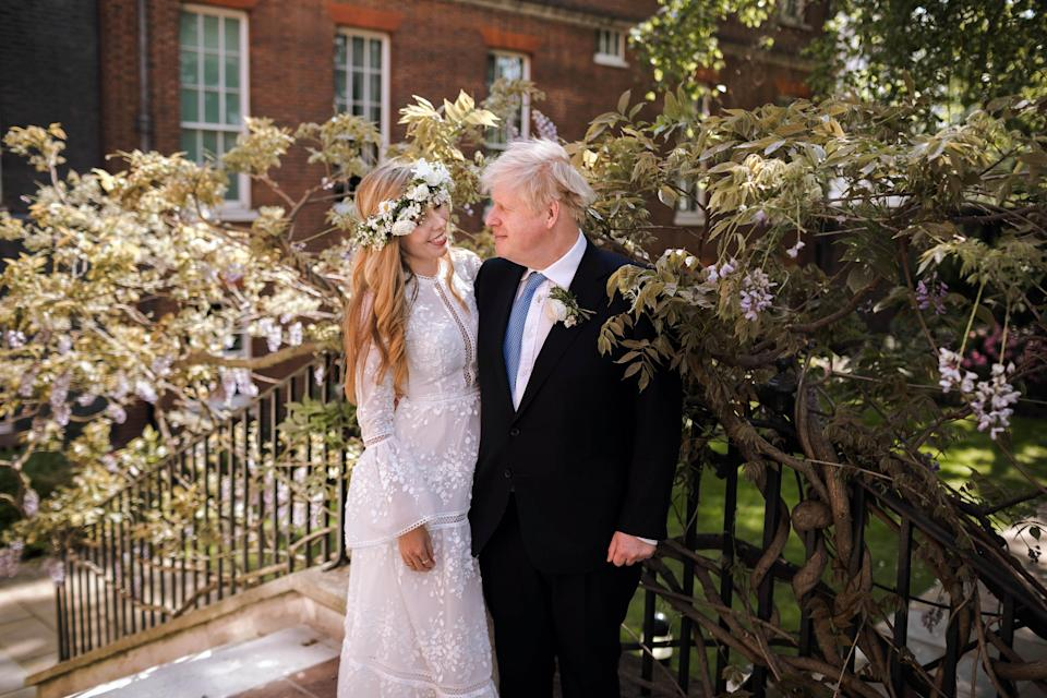 Boris Johnson wed for the third time in 2021, with his union with Carrie Symonds sealed in Westminster Cathedral on May 29 (PA Media)