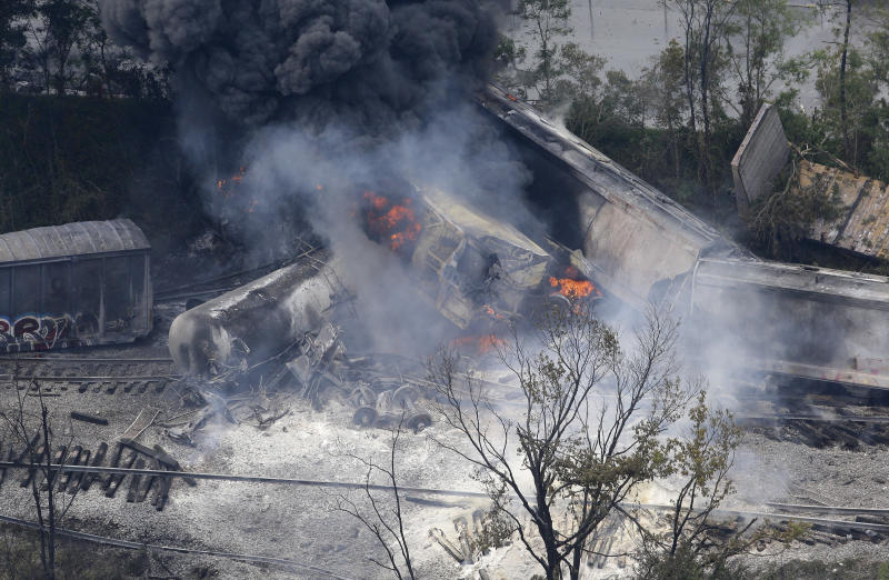 Derailment, blast near Baltimore rattles homes