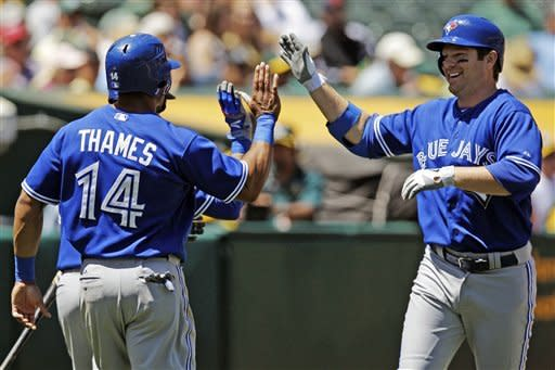 Blue Jays back Morrow with 3 HRs, beat A's 5-2