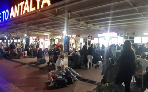 Thomas Cook passengers were stranded at Antalya Airport, Turkey when their aircraft developed a fault - Credit: Beka Whitelaw