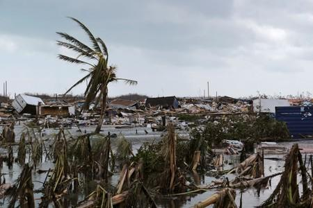 Damage in the aftermath of Hurricane Dorian in Marsh Harbour