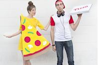 """<p>Share a <a href=""""https://heyletsmakestuff.com/costumes-made-with-the-cricut/"""" rel=""""nofollow noopener"""" target=""""_blank"""" data-ylk=""""slk:slice of pizza"""" class=""""link rapid-noclick-resp"""">slice of pizza</a> with your bestie this Halloween. Delivery guy not included.</p>"""