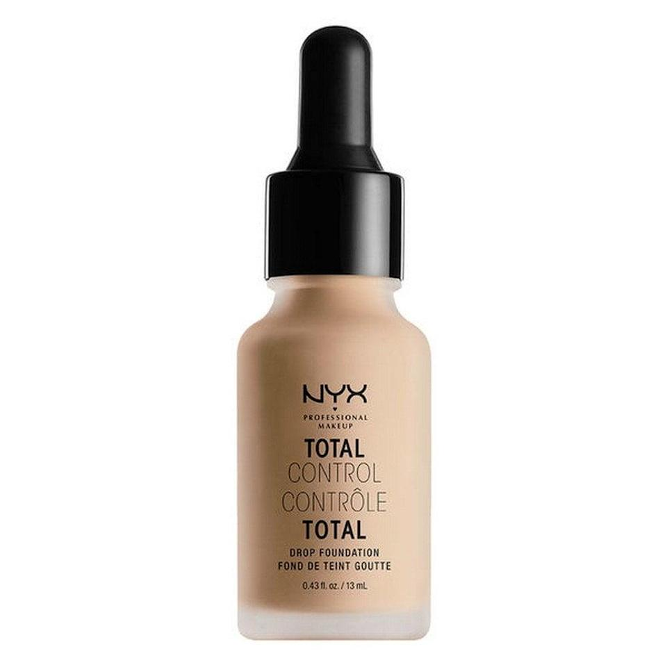 <p>The best thing about the <span>NYX Professional Makeup Total Control Drop Foundation</span> ($14) is that you can build up your desired coverage with each drop. One to two gives you a barely there effect, while three to four covers any breakouts or hyperpigmentation like a charm. </p>