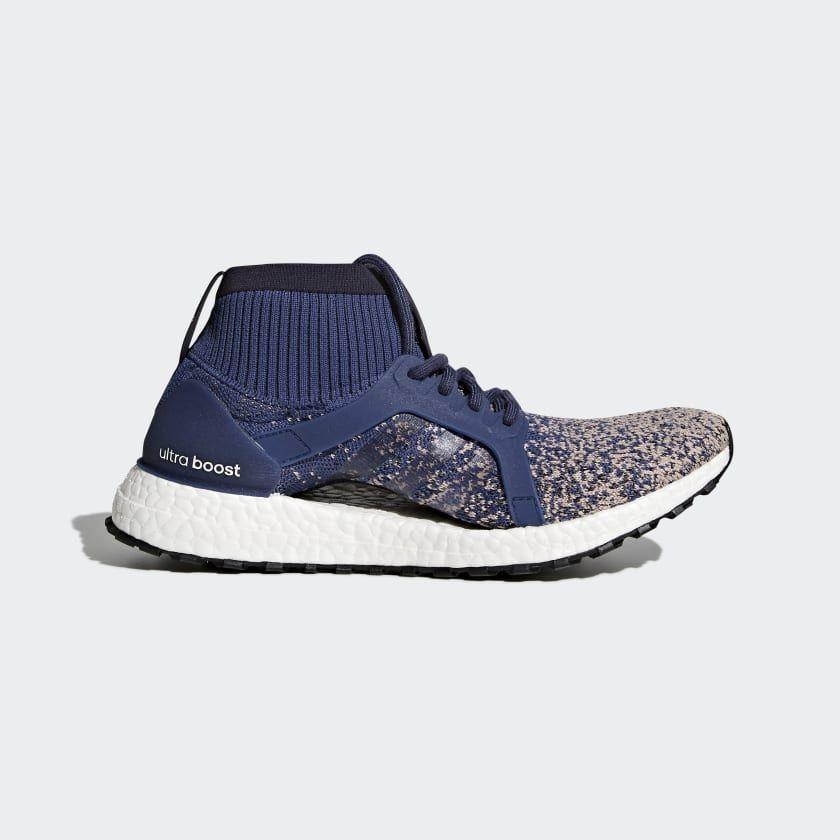 """<p><strong>adidas</strong></p><p>adidas.com</p><p><strong>$176.00</strong></p><p><a href=""""https://go.redirectingat.com?id=74968X1596630&url=https%3A%2F%2Fwww.adidas.com%2Fus%2Fultraboost-x-all-terrain-shoes%2FBY8924.html&sref=https%3A%2F%2Fwww.womenshealthmag.com%2Ffitness%2Fg22853139%2Fbest-winter-running-shoes%2F"""" rel=""""nofollow noopener"""" target=""""_blank"""" data-ylk=""""slk:Shop Now"""" class=""""link rapid-noclick-resp"""">Shop Now</a></p><p>Adidas' unique UltraBoost X—designed specifically for women's feet—got the all-weather treatment with a water-repellent knit upper to keep feet dry and a high collar for added protection against the elements, snow included. This shoe is comfortable, cushioned, and ideal for winter runs on any terrain.</p>"""