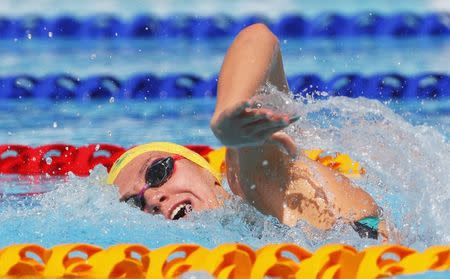 Swimming - Gold Coast 2018 Commonwealth Games - Women's 400m Freestyle - Heats - Optus Aquatic Centre - Gold Coast, Australia - April 10, 2018. Ariarne Titmus of Australia competes. REUTERS/David Gray