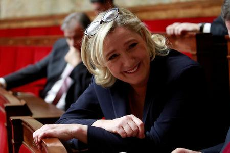 FILE PHOTO: French far-right National Rally (Rassemblement National) party leader Marine Le Pen at a session of the National Assembly in Paris, November 27, 2018. REUTERS/Gonzalo Fuentes/File Photo