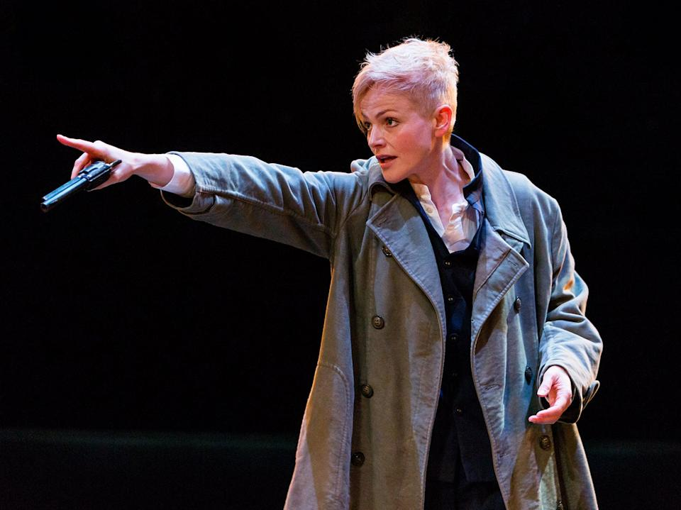 Maxine Peake as Hamlet, in a production which was filmed and broadcast on Sky ArtsJonathan Keenan