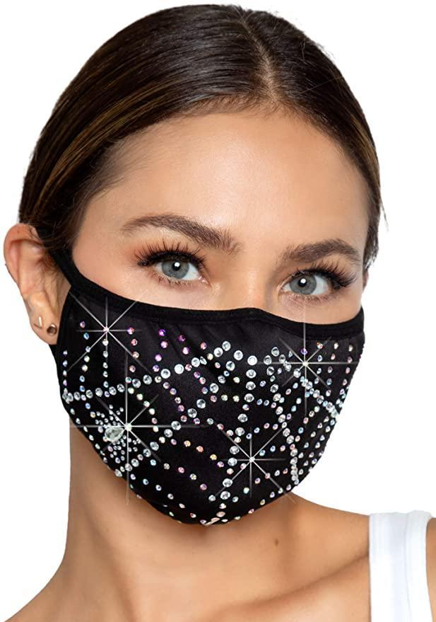 """<br><br><strong>Leg Avenue</strong> Women's Rhinestone Spider Web Halloween Face Mask, $, available at <a href=""""https://amzn.to/33m7W6w"""" rel=""""nofollow noopener"""" target=""""_blank"""" data-ylk=""""slk:Amazon"""" class=""""link rapid-noclick-resp"""">Amazon</a>"""