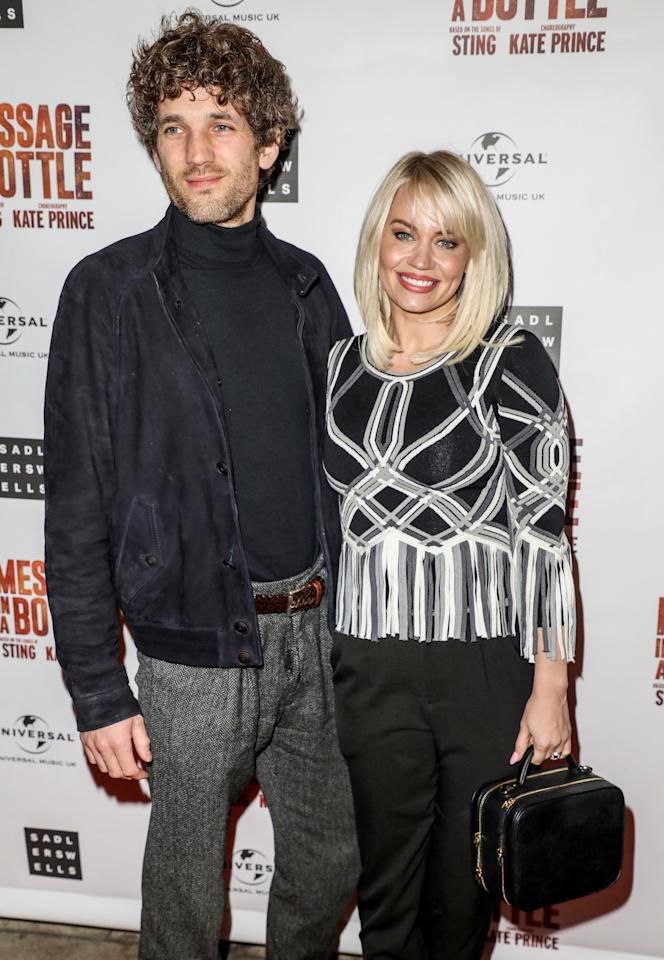 Max Rogers and Kimberly Wyatt attending a press night for Message in a Bottle at the Peacock Theatre in London (Photo by Brett Cove / SOPA Images/Sipa USA)