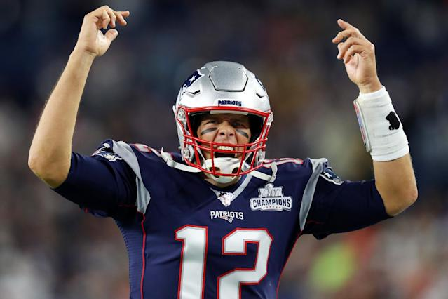 Tom Brady exploded for a big game Sunday night. (Getty Images)