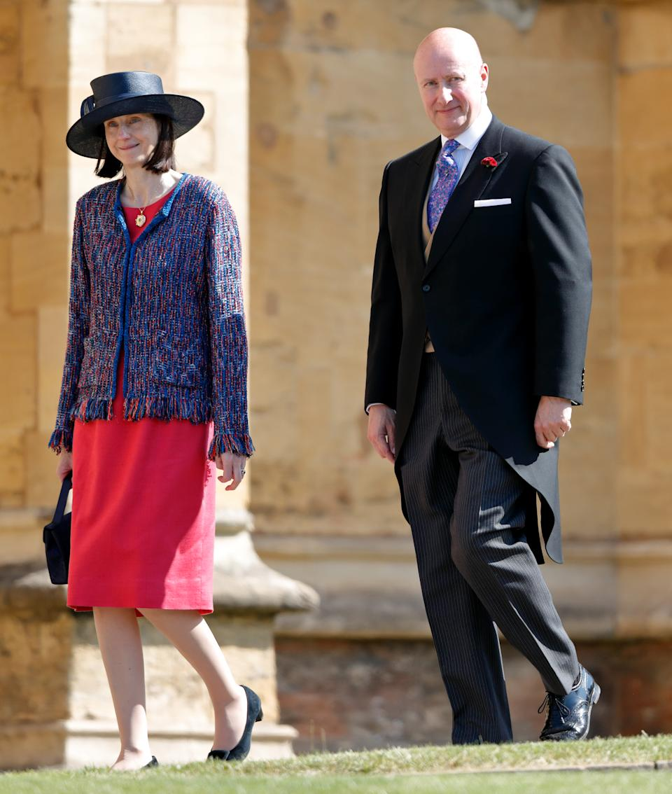 WINDSOR, UNITED KINGDOM - MAY 19: (EMBARGOED FOR PUBLICATION IN UK NEWSPAPERS UNTIL 24 HOURS AFTER CREATE DATE AND TIME) Sir Christopher Geidt attends the wedding of Prince Harry to Ms Meghan Markle at St George's Chapel, Windsor Castle on May 19, 2018 in Windsor, England. Prince Henry Charles Albert David of Wales marries Ms. Meghan Markle in a service at St George's Chapel inside the grounds of Windsor Castle. Among the guests were 2200 members of the public, the royal family and Ms. Markle's Mother Doria Ragland. (Photo by Max Mumby/Indigo/Getty Images)