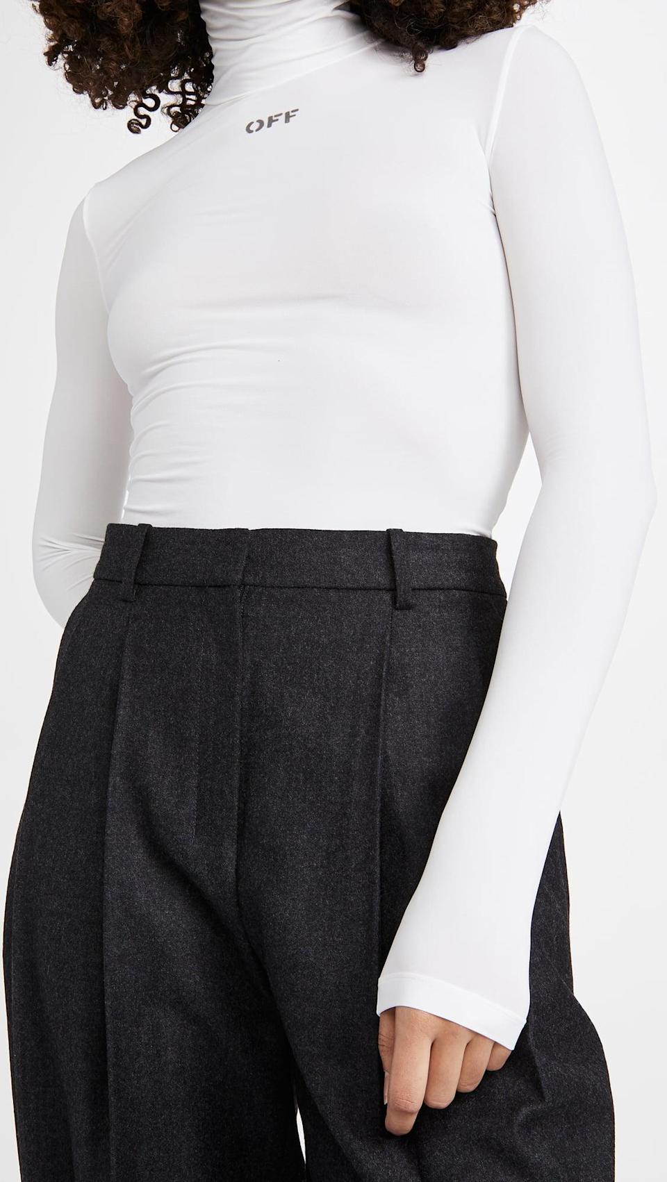 <p>This <span>Off-White High Neck Top</span> ($325) is so effortlessly cool.</p>