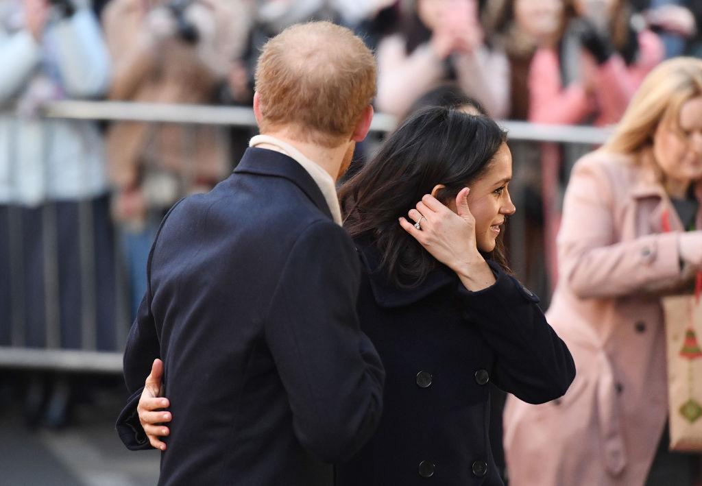Prince Harry and Meghan Markle during a visit to the Nottingham Contemporary in Nottingham. (Photo: Getty)