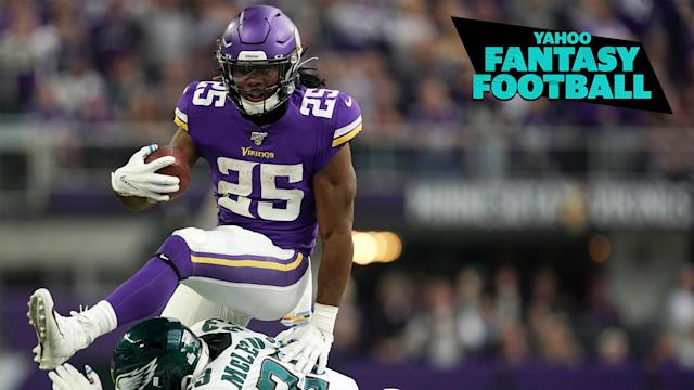 Vikings RB Alexander Mattison leads our experts list of must-own RBs to stash for the second half of the fantasy season. (Photo by Anthony Souffle/Star Tribune via Getty Images)