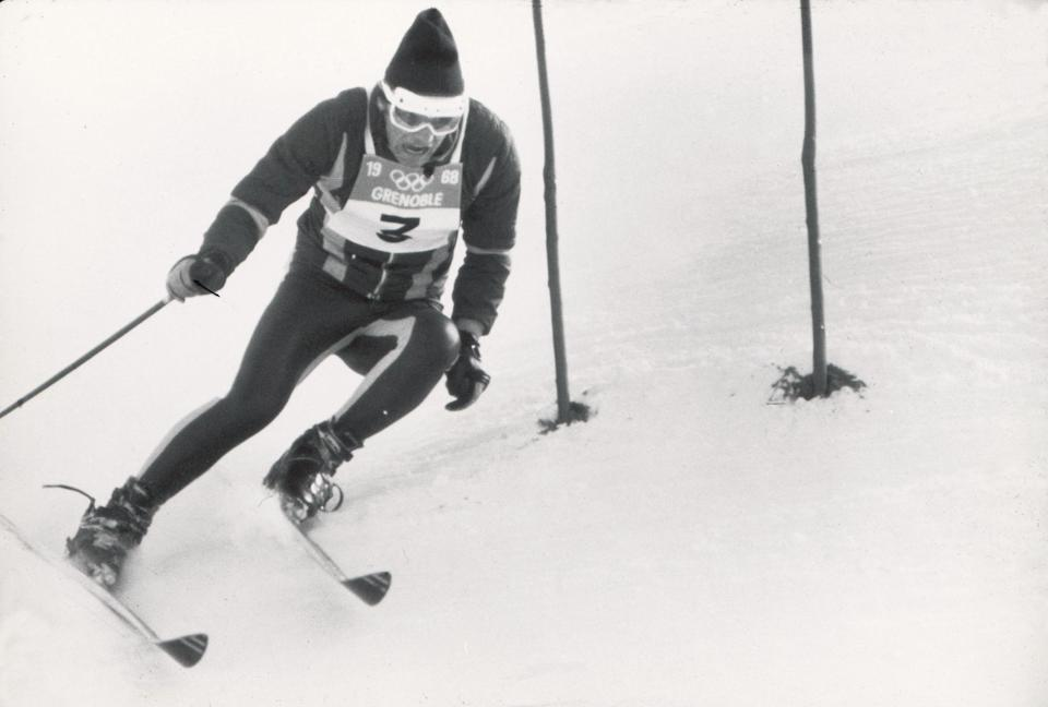 """<p>At the 1968 Winter Games in Grenoble, France, French skier Jean-Claude Killy was on his way to winning gold when opponent, Austrian Karl Schranz claimed a mysterious """"man in black"""" crossed his path, causing him to stop. Officials granted Schranz a restart and he posted the fastest time. But after a review of TV footage revealed Schranz had missed the gate, his repeat time was annulled and Killy reclaimed gold. </p>"""