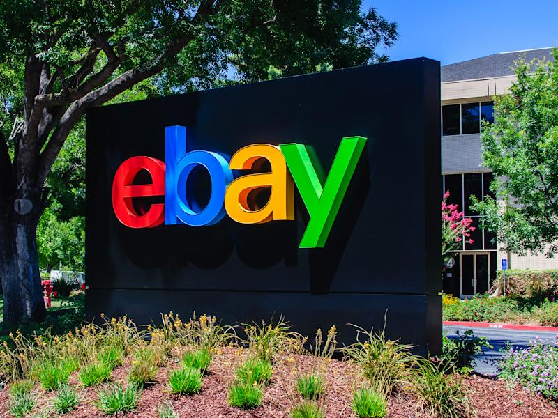 San Jose, CA - Jul. 17, 2016: eBay Inc. Headquaters. eBay Inc. is an e-commerce company, providing consumer-to-consumer and business-to-consumer sales services via the internet.