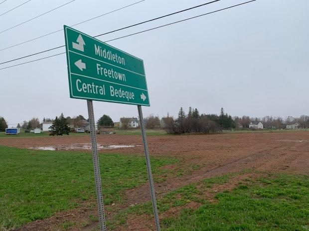 The new baseball field will be located here on Route 1A in Central Bedeque. (Shane Ross/CBC - image credit)