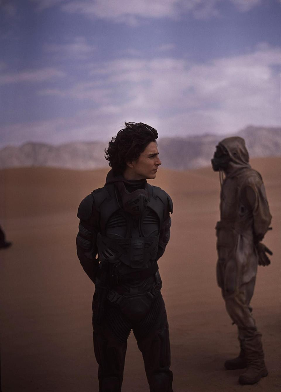"""<p>""""You're looking at a subject in different way to what you would do normally,"""" Fraser says of taking photos versus setting up film frames. </p> <p><em>Pictured: Timothée Chalamet (Paul Atreides)</em></p>"""