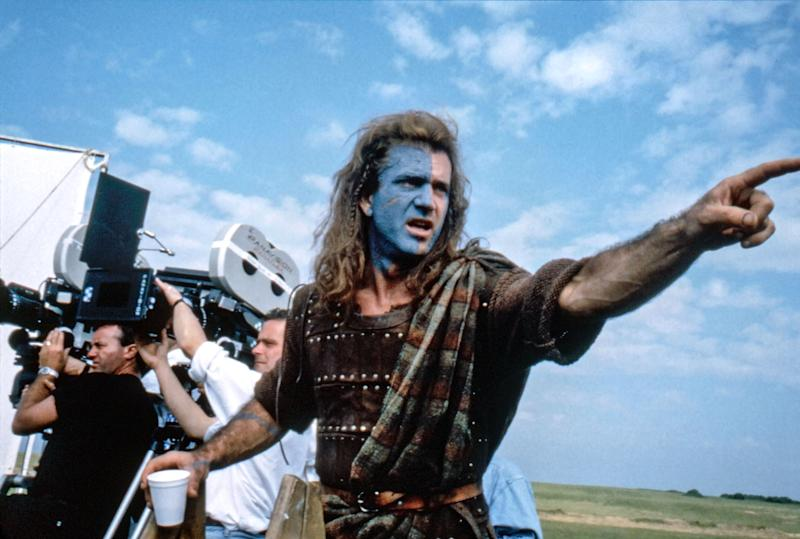 Gibson on the set of 'Braveheart' (Photo: 20th Century Fox Film Corp./courtesy Everett Collection)