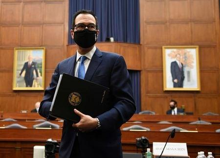 Mnuchin sees possible virus aid deal, but no talks set with Congress