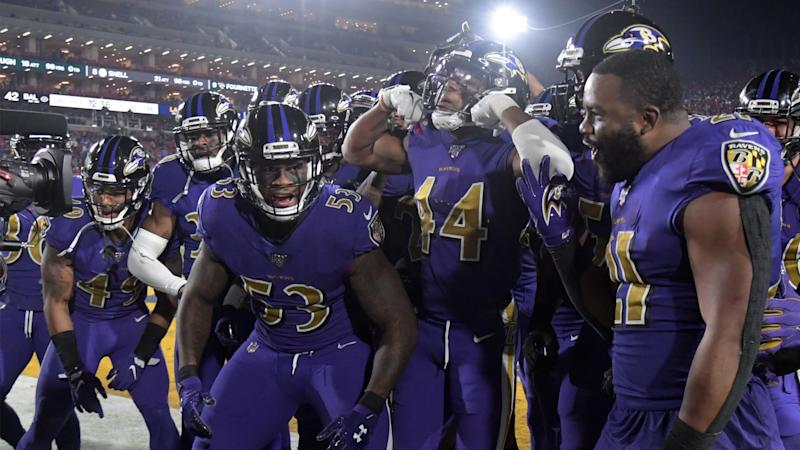 Ravens practice with wet balls to prepare for 49ers matchup in rain