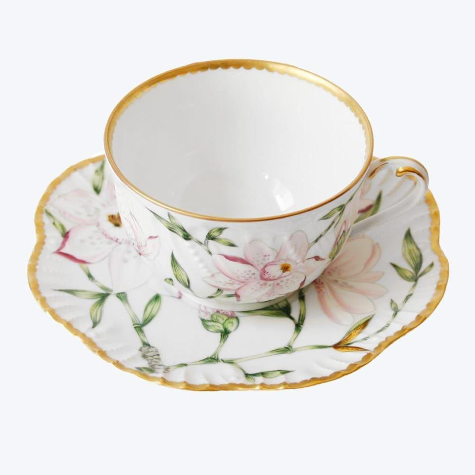 """<p><strong>Pinto Paris</strong></p><p>theinvisiblecollection.com</p><p><a href=""""https://theinvisiblecollection.com/product/pinto-paris-magnolia-tea-set/"""" rel=""""nofollow noopener"""" target=""""_blank"""" data-ylk=""""slk:Shop Now"""" class=""""link rapid-noclick-resp"""">Shop Now</a></p><p>This whimsical hand-painted cup set will have you craving high tea at home every day.<br></p>"""