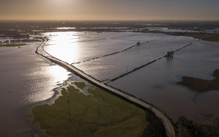 Fields submerged near the River Trent - Tom Maddick / SWNS