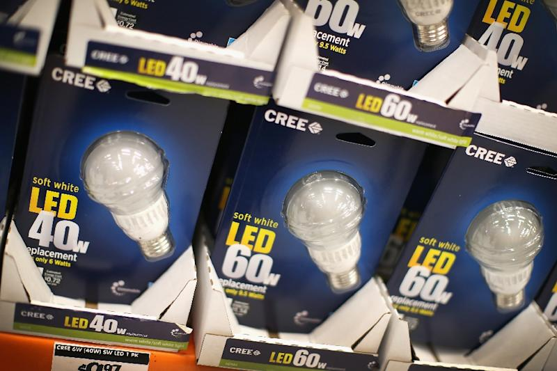 "LED lights are more efficient because they need far less electricity to provide the same amount of light, but then people might install more and more lights in a behavior called the ""rebound effect"""