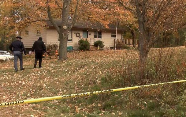 PHOTO: Authorities at the home of James and Denise Closs, found dead on Monday in Barron, Wisconsin. Their 13 year-old daughter Jayme Closs was missing. (ABC News)