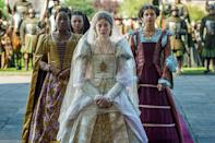 "<p>The costumes! The history! The sumptuous storylines! Simply put, there is <em>so</em> much to love about a period drama, in both TV series and movie form. With the push of a button, these historical dramas act as instant portals into other eras.  </p><p>The only question is: Where do you want to time-travel first? Each of these shows explores a different era in history, through the lenses of kings, queens, and everyday people. <em><a href=""https://www.amazon.com/The-Spanish-Princess-Season-1/dp/B07VNNN6YP?tag=syn-yahoo-20&ascsubtag=%5Bartid%7C10063.g.35089329%5Bsrc%7Cyahoo-us"" rel=""nofollow noopener"" target=""_blank"" data-ylk=""slk:The Spanish Princess"" class=""link rapid-noclick-resp"">The Spanish Princess</a> </em>on Starz ventures into the early days of King Henry VIII's notorious rule, through the eyes of his first wife (and first love). The movie <em><a href=""https://www.amazon.com/Belle-Tom-Felton/dp/B00KOAMUW2?tag=syn-yahoo-20&ascsubtag=%5Bartid%7C10063.g.35089329%5Bsrc%7Cyahoo-us"" rel=""nofollow noopener"" target=""_blank"" data-ylk=""slk:Belle"" class=""link rapid-noclick-resp"">Belle</a> </em>looks at what life was like for a young Black woman in a wealthy family in Regency-era England; <em><a href=""https://www.oprahmag.com/entertainment/tv-movies/a34398548/bridgerton-season-1-release-date-trailer-cast/"" rel=""nofollow noopener"" target=""_blank"" data-ylk=""slk:Bridgerton"" class=""link rapid-noclick-resp"">Bridgerton </a></em><a href=""https://www.oprahmag.com/entertainment/tv-movies/a34398548/bridgerton-season-1-release-date-trailer-cast/"" rel=""nofollow noopener"" target=""_blank"" data-ylk=""slk:is a more fantastical take"" class=""link rapid-noclick-resp"">is a more fantastical take</a> on the same era. And <em><a href=""https://www.amazon.com/New-World-Colin-Farrell/dp/B001JDPRUK?tag=syn-yahoo-20&ascsubtag=%5Bartid%7C10063.g.35089329%5Bsrc%7Cyahoo-us"" rel=""nofollow noopener"" target=""_blank"" data-ylk=""slk:The New World"" class=""link rapid-noclick-resp"">The New World</a> </em>rewrites the myth of the founding of the Jamestown Colony, making it a thought-provoking <a href=""https://www.oprahmag.com/entertainment/tv-movies/g29358790/best-thanksgiving-movies/"" rel=""nofollow noopener"" target=""_blank"" data-ylk=""slk:Thanksgiving Day movie pick"" class=""link rapid-noclick-resp"">Thanksgiving Day movie pick</a>. </p><p>Based on <a href=""https://www.oprahmag.com/entertainment/a30186941/little-women-ending/"" rel=""nofollow noopener"" target=""_blank"" data-ylk=""slk:classic novels like"" class=""link rapid-noclick-resp"">classic novels like </a><em><a href=""https://www.oprahmag.com/entertainment/a30186941/little-women-ending/"" rel=""nofollow noopener"" target=""_blank"" data-ylk=""slk:Little Women"" class=""link rapid-noclick-resp"">Little Women</a> </em>and real-life events like the <a href=""https://www.oprahmag.com/entertainment/tv-movies/a32080743/belgravia-true-story-duchess-of-richmond-ball/"" rel=""nofollow noopener"" target=""_blank"" data-ylk=""slk:Duchess of Richmond's doomed ball,"" class=""link rapid-noclick-resp"">Duchess of Richmond's doomed ball,</a> the possibilities for period dramas are endless. Some, like <em>Downton Abbey</em>, are completely fictional—but speak truths about far-off eras. And, there are <a href=""https://www.oprahmag.com/entertainment/g30633029/shows-like-outlander/"" rel=""nofollow noopener"" target=""_blank"" data-ylk=""slk:options like Outlander"" class=""link rapid-noclick-resp"">options like <em>Outlander</em></a>, that offer sweeping romances. We've also included <a href=""https://www.oprahmag.com/entertainment/tv-movies/g26026225/spanish-shows-series-on-netflix/"" rel=""nofollow noopener"" target=""_blank"" data-ylk=""slk:Spanish-language picks"" class=""link rapid-noclick-resp"">Spanish-language picks</a>, since period dramas are hardly limited by geographic region. Here are some of our favorite period dramas streaming on Netflix, Hulu, Amazon Prime, and beyond.</p>"