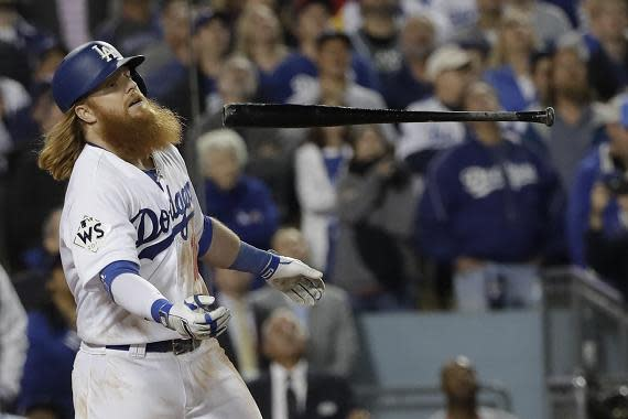 Justin Turner is a missing piece of the Dodgers offensive puzzle so far in 2018. (AP)