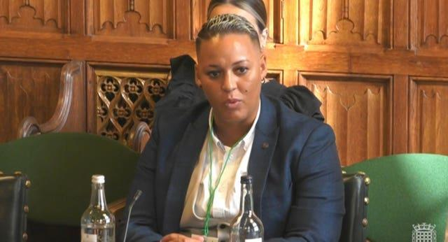 Lianne Sanderson says she can receive hundreds of abusive messages every time she appears on television or radio