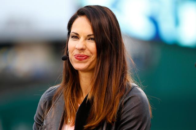 Jessica Mendoza missed ESPN's 'Sunday Night Baseball' broadcast while recovering from a car accident. (Photo by Maxx Wolfson/Getty Images)