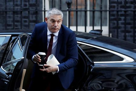 Britain's Secretary of State for Exiting the European Union Stephen Barclay is seen outside Downing Street in London, Britain, February 14, 2019. REUTERS/Peter Nicholls