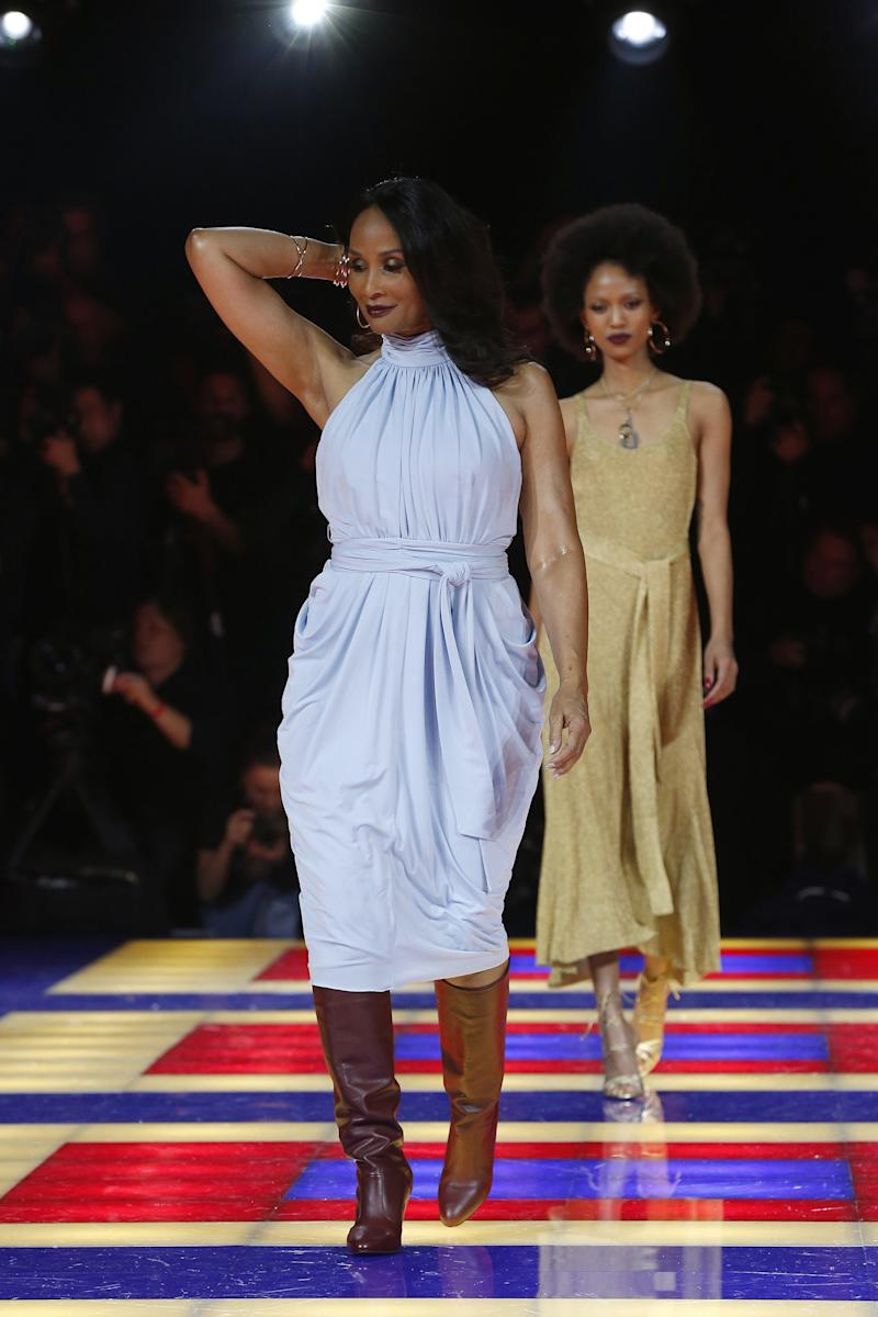 Beverly Johnson, the '70s icon who became the first African-American model to appear on the cover of Vogue in 1974, also turned up at Zendaya's Tommy show.