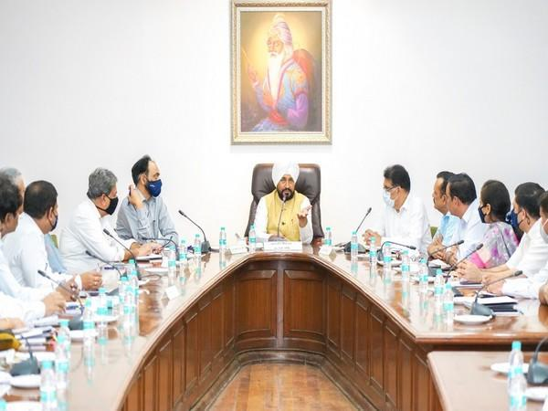 Punjab Chief Minister Charanjit Singh Channi chaired a meeting with administrative secretaries