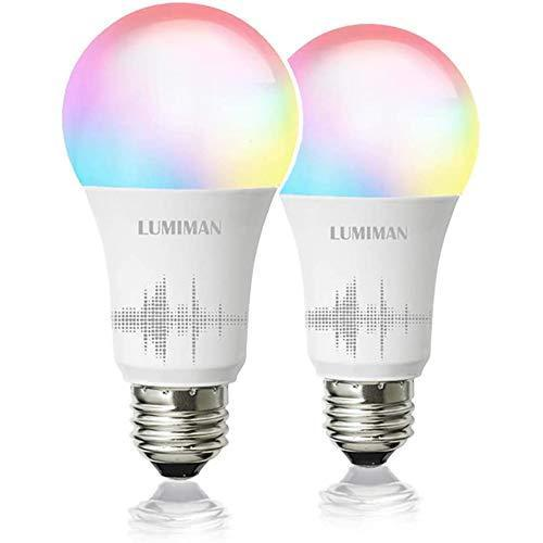 Smart WiFi Light Bulb, LED RGBCW Color Changing, Compatible with Alexa and Google Home