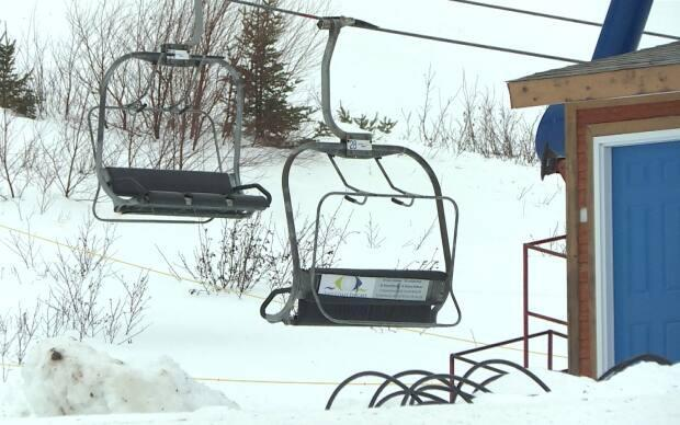 White Hills ski resort had hoped to officially open on Monday, but ran into trouble with the ski lift. The slopes are now open, with an official opening planned for Thursday. (Garrett Barry/CBC - image credit)