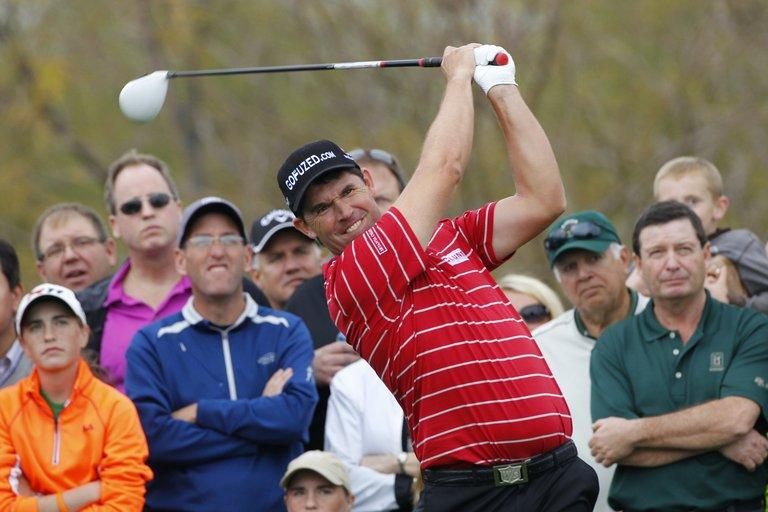 Padraig Harrington during the final round of the Waste Management Phoenix Open in Arizona on February 3, 2013
