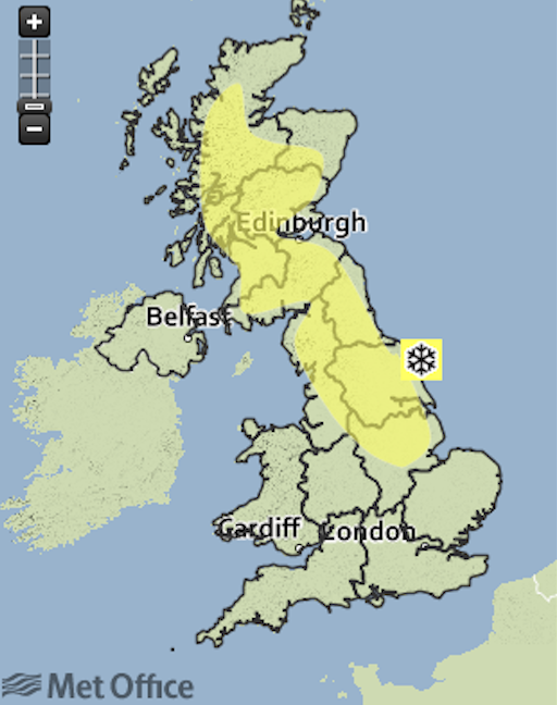 Tonight's forecast? A freeze is coming (Picture: Met Office)