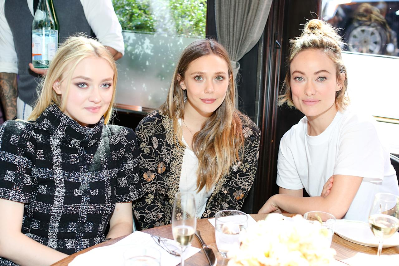 <p>The actors joined other women in the entertainment industry for a lunch kicking off Through Her Lens: The Tribeca Chanel Women's Filmmaker Program. In fact, Fanning will serve as an adviser and Olsen a mentor to the five aspiring directors selected for this year's program. (Photo: BFA) </p>