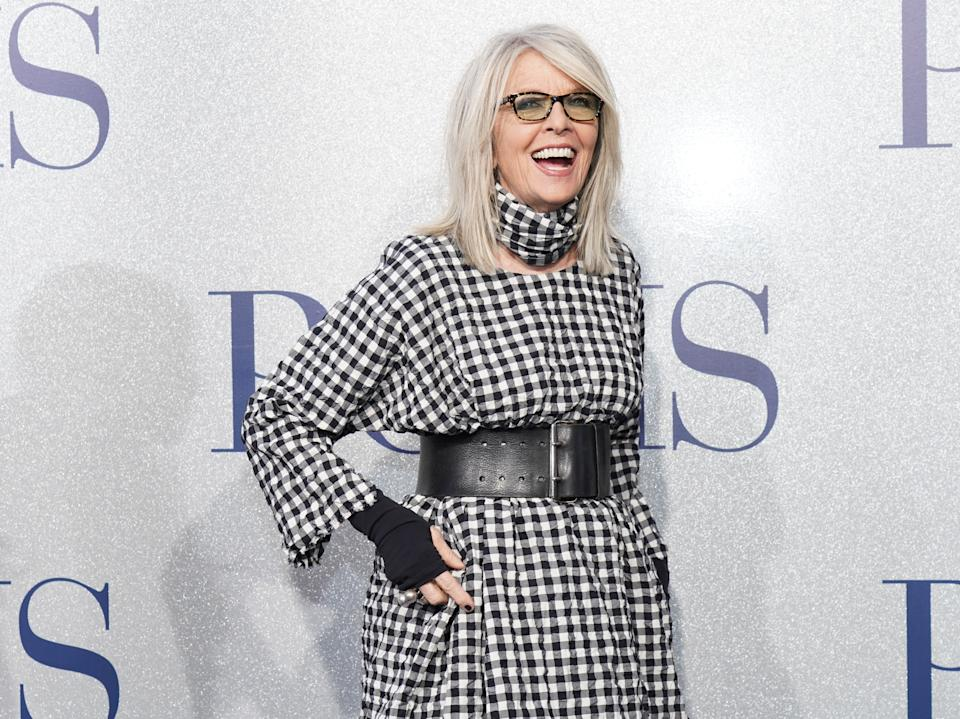 LOS ANGELES, CALIFORNIA - MAY 01: Diane Keaton attends the premiere of STX's