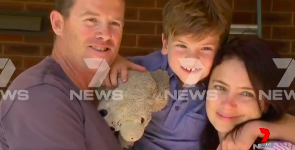 Riley has been given a clean bill of health, to the relief of his parents. Source: 7 News