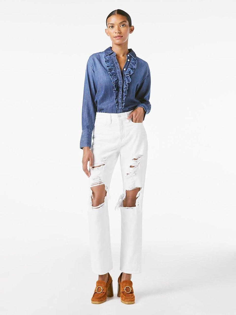 <p>If you're looking for summer white jeans, go for these cool <span>Frame Le Hollywood Jeans</span> ($174, originally $248).</p>