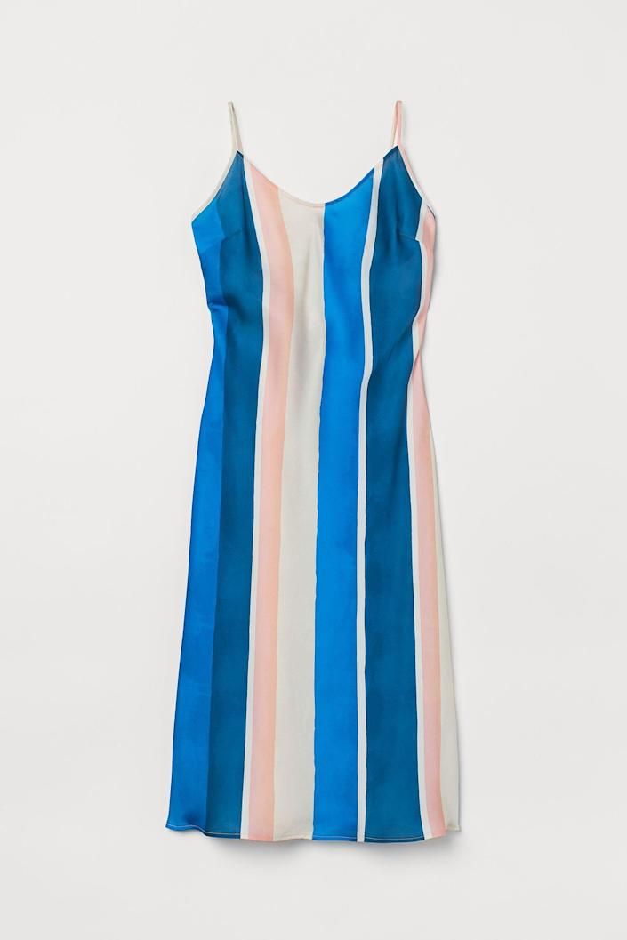 <p>Pair this <span>Slip-style Dress</span> ($18) with strappy sandals or platform wedges for am evening dinner or daytime brunch.</p>