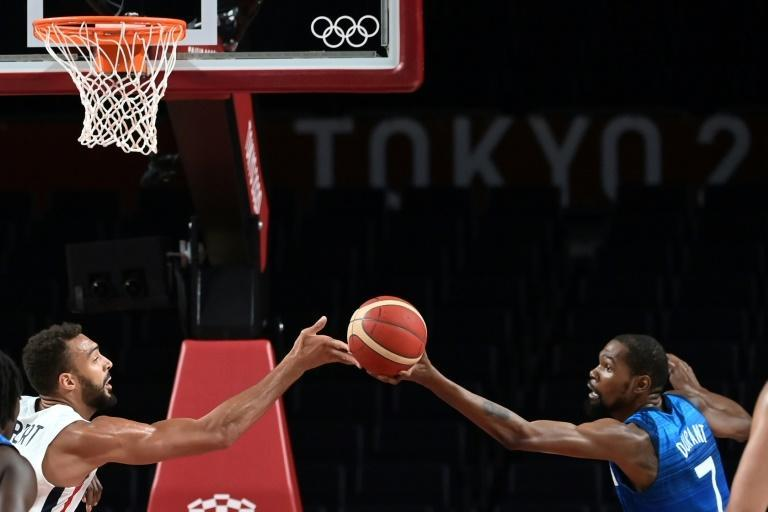 Kevin Durant was unable to find his groove as the French held him to 10 points