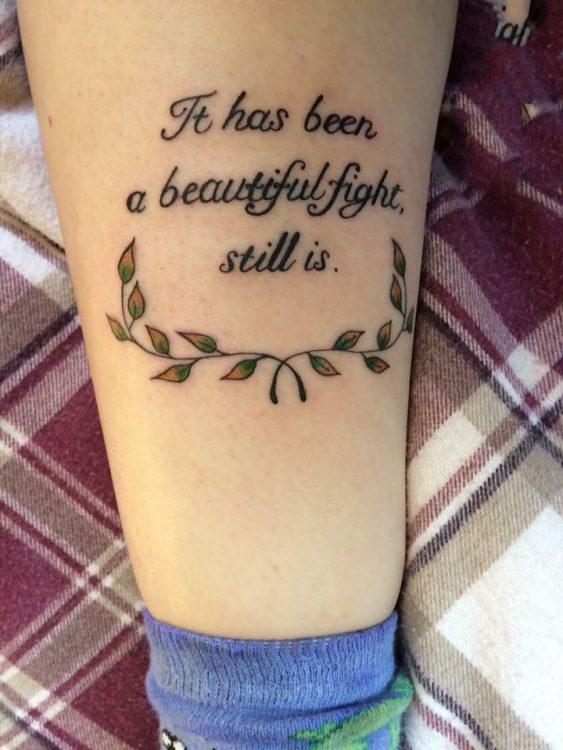 Down With My Demons Tattoo: 50 Tattoos People Look At When They're Struggling With